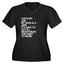 Never Wear This To Work Women's Plus Size V-Neck D