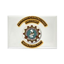 US - NAVY - Amphibious Const Bn Rectangle Magnet (