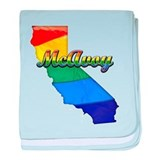 McAvoy, California. Gay Pride baby blanket