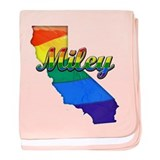 Miley, California. Gay Pride baby blanket