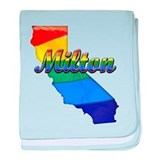 Milton, California. Gay Pride baby blanket