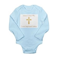 Cute Baptism Long Sleeve Infant Bodysuit