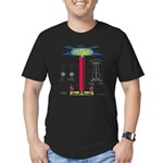 TESLA COIL Men's Fitted T-Shirt (dark)