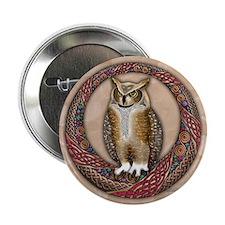 "Celtic Owl 2.25"" Button (10 pack)"