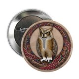 "Celtic Owl 2.25"" Button (100 pack)"