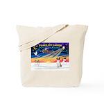 XmasSunrise/Fox Hound Tote Bag
