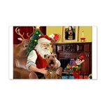 Santas Airedale 20x12 Wall Decal