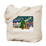 XmasMagic/Airedale Tote Bag