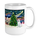 Xmas Magic & Akita Large Mug