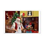 Santa & Akita 22x14 Wall Peel