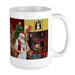 Santa & Akita Large Mug