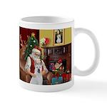 Santa & Akita Mug