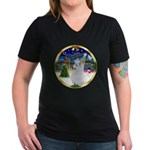 XmasMusic 3/Am Eskimo #3 Women's V-Neck Dark T-Shi
