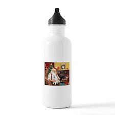 Santa's Eskimo Spitz Sports Water Bottle