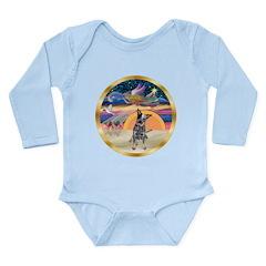 XmasStar/Cattle Dog Long Sleeve Infant Bodysuit
