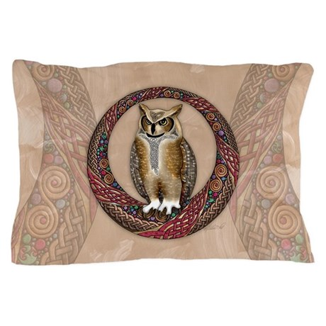 Celtic Owl Pillow Case