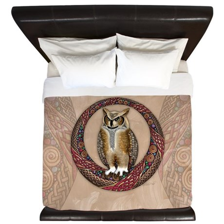 Celtic Owl King Duvet Cover