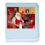 Santa's Tri Aussie (#7) baby blanket