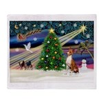 XmasMagic/Basenji #2 Throw Blanket