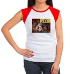 Santa's Bedlington Women's Cap Sleeve T-Shirt