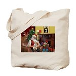 Santa's Bedlington Tote Bag
