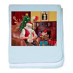 Santa's Bedlington baby blanket