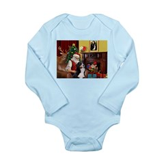 Santa's Home & Bernese Long Sleeve Infant Bodysuit