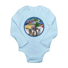 Xmas Magic / 3 Boxers Long Sleeve Infant Bodysuit