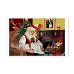 Santa & His Brittany 22x14 Wall Peel