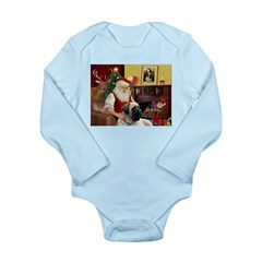 Santa's Bull Mastiff #4 Long Sleeve Infant Bodysui