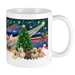 Xmas Magic & 5 Cairn Terriers Mug