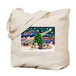 Xmas Magic & 5 Cairn Terriers Tote Bag
