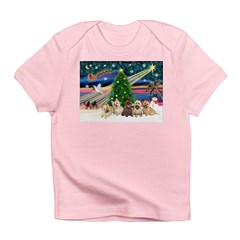 Xmas Magic & 5 Cairn Terriers Infant T-Shirt