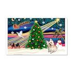 Xmas Magic & Cairn Terrier 22x14 Wall Peel