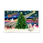 Xmas Magic & Cairn Terrier 22x14 Wall Peel
