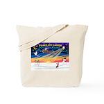 XmasSunrise/Chin Crested Tote Bag