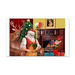Santa's Shar Pei 22x14 Wall Peel