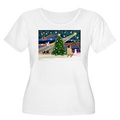 Christmas Magic & Shar Pei #2 Women's Plus Size Sc