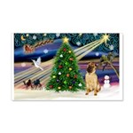 Christmas Magic & Shar Pei #2 22x14 Wall Peel