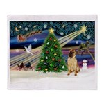 Christmas Magic & Shar Pei #2 Throw Blanket