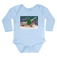 Xmas Magic & Chow Long Sleeve Infant Bodysuit