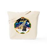XmasSunrise/Cocker Tote Bag