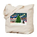 Xmas Magic & Collie Tote Bag