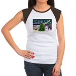 Xmas Magic & Coton De Tulear Women's Cap Sleeve T-