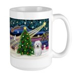 Xmas Magic & Coton De Tulear Large Mug