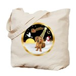 Night Flight/Dachshund #13 Tote Bag