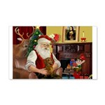 Santa's Dachshund (b) 22x14 Wall Peel