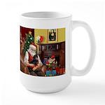 Santa's Dachshund (BT) Large Mug