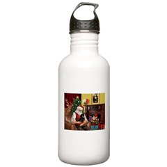 Santa's Dachshund (BT) Stainless Water Bottle 1.0L