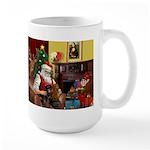 Santa/Two Dachshunds (BB) Large Mug